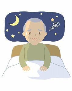 不眠症のシニア