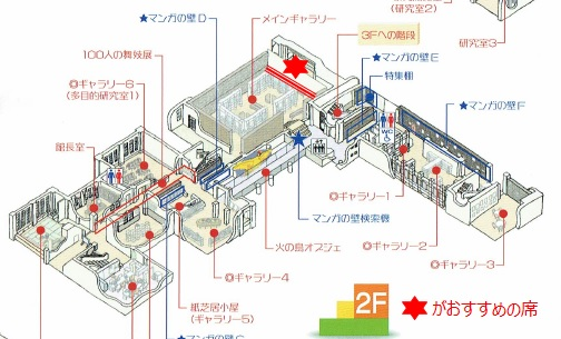 マンガミュージアム2階