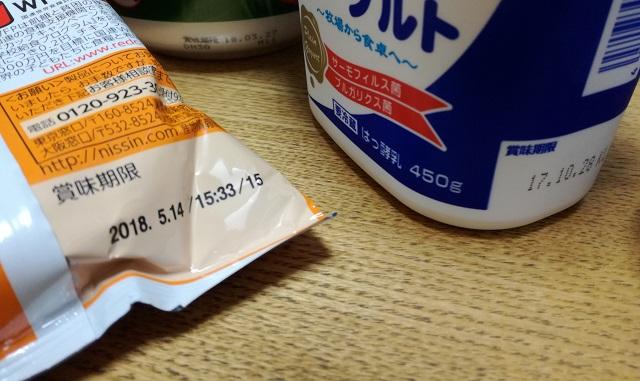 賞味期限消費期限違いtop