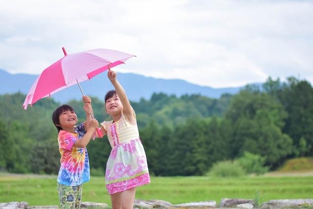 日傘と子供