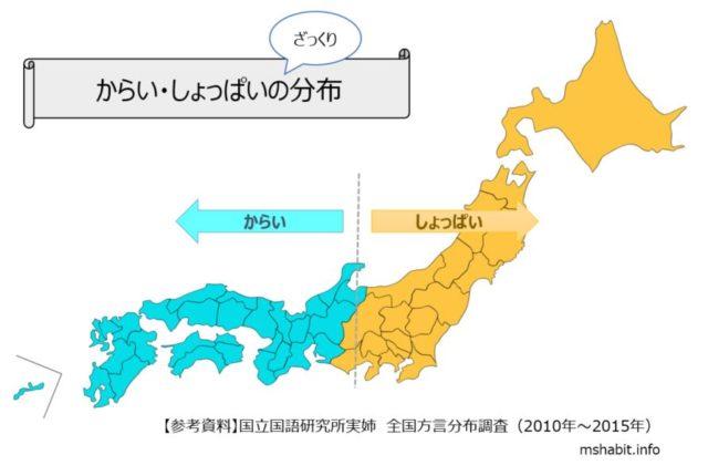 しょっぱいの分布地図