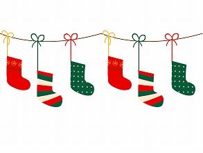 クリスマスに靴下