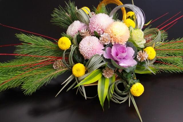 新年の生け花