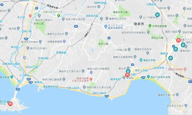 鎌倉七福神地図