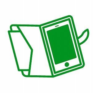 緑色のスマホケース