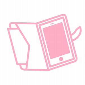 ピンク色のスマホケース