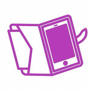 紫色のスマホケース