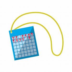 ラジオ体操の出席カード